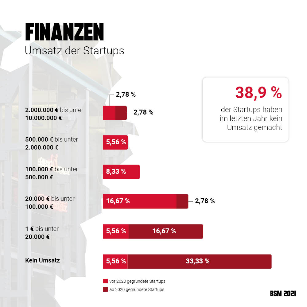 Startup Monitor Braunschweig - Startup Umsätze